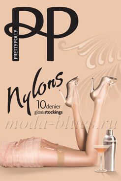 Чулки под пояс Pretty Polly gloss stockings 10